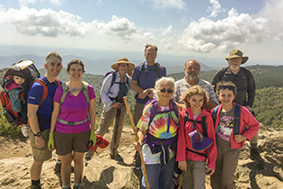 The BRCC hiking group visits Black Balsam Knob in Western North Carolina.